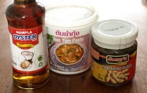 Tom Yum, Fischsauce und Tamarinden-Paste