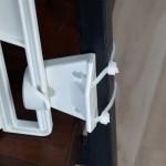 Besfestigung an der Wendeltreppe mit Kabelbindern