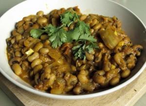 Black Eyed Beans Curry, vegan, gfcf