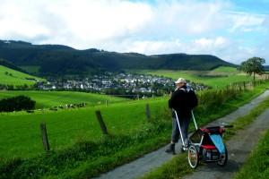 Das Chariot Hiking-Set im Einsatz
