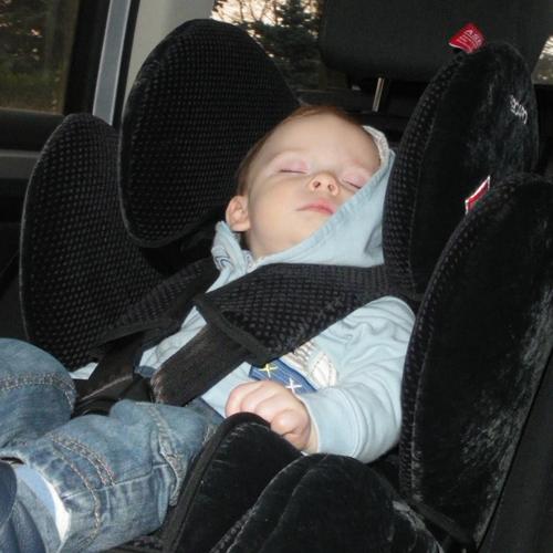 Der Recaro Young Sport ist auch zum Schlafen gut geeignet.