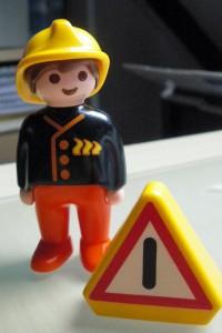 Die Feuerwehr hat auf meinen Sohn mächtig Eindruck gemacht.