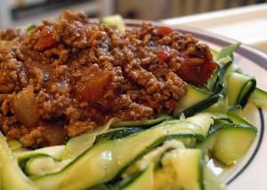 Zucchini-Bolognese, gfcf, paleo