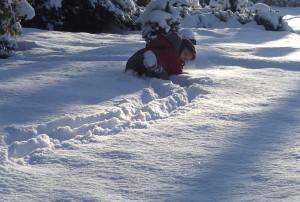 Im Schnee laufen ist gar nicht so einfach...