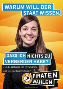 Piratenpartei-Plakat