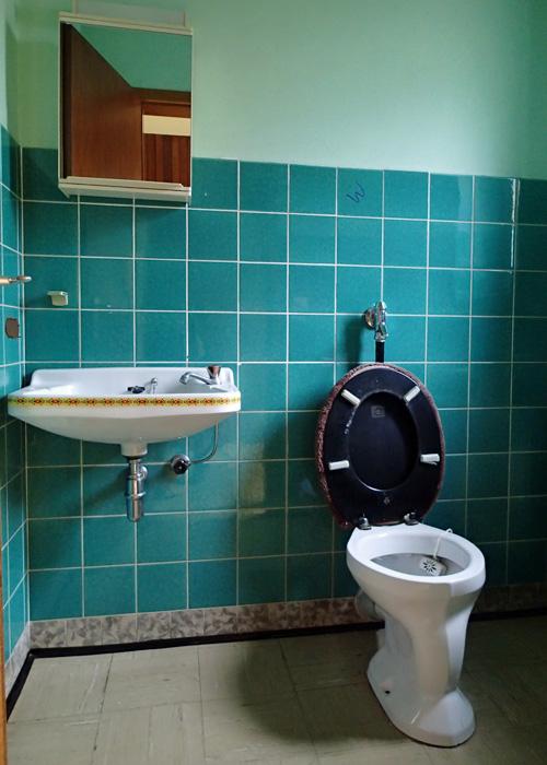 60er-Jahre Gäste-WC, am Montag beginnt der Rückbau
