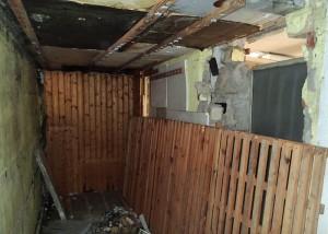 Abriss der Sauna unter der Terrasse