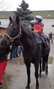 Ponyreiten: Piet auf Bonito