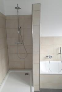 Die neue Dusche