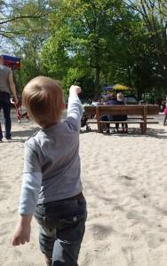 Unser Sohn sagt, wo es lang geht.