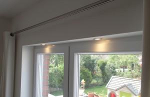 LED-Einbaustrahler im Rolladenkasten
