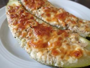 Gefüllte Zucchini, glutenfrei