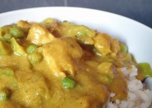 Hähnchen-Curry, indisch, glutenfrei, mit roten Linsen