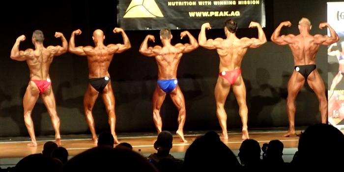 GNBF 2014, Masters I, Natural Bodybuilding, Doppel-Bizeps von hinten