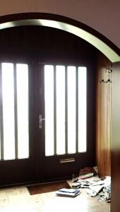 Die Haustüre von innen vor der Überarbeitung