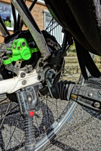 Weber-E-Kupplung am Pedelec mit Hinterrad-Motor, Bulls Grenn mover Cross Disc 2012